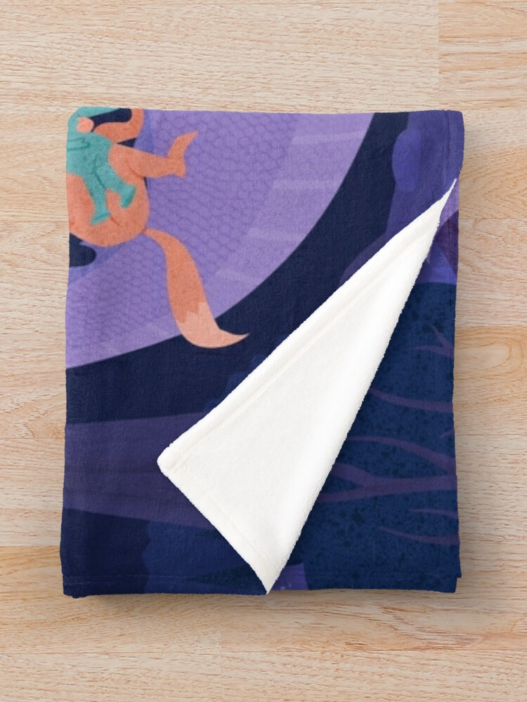 Alternate view of Nighttime Dragon Ride Throw Blanket