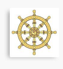 classic dharma wheel Canvas Print