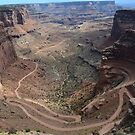 Shafer Trail in Canyonlands National Park by Melanie Roelofs