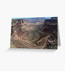 Shafer Trail in Canyonlands National Park Greeting Card