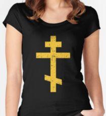 Cross - Eastern Orthodox / Greek Orthodox Women's Fitted Scoop T-Shirt