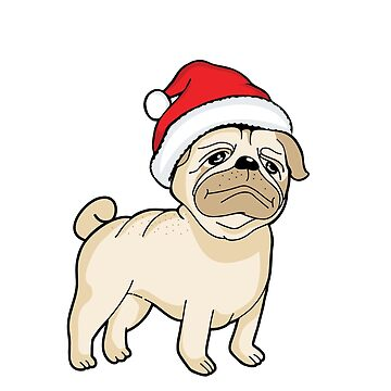 Ho Ho Ho Bah Hum Pug Christmas Holiday Funny T-Shirt by tronictees