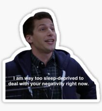 Sleep Deprived Jake Peralta Sticker