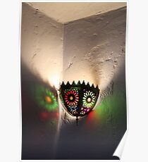 Moroccan lamp light Poster