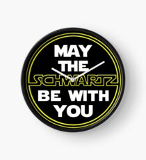 May the Schwartz Be With You Clock
