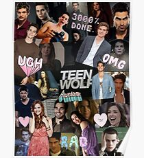 Teen Wolf Collage 2  Poster
