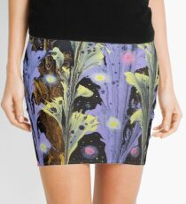 Xenoflora - Early flora with fireflies Mini Skirt