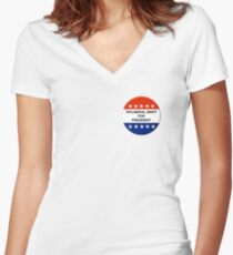 Tayliberal 4 President Women's Fitted V-Neck T-Shirt