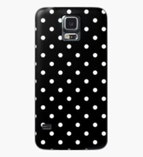 White and Black Polka Dots Case/Skin for Samsung Galaxy
