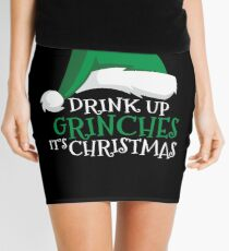 Drink Up Grinches It's Christmas Holiday Drinking Mini Skirt