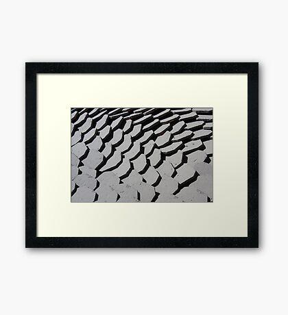 Tiles, light and shade Framed Print