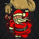 Santa Is Here Christmas Santa Claus by scooterbaby