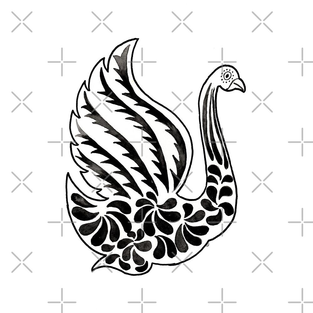 Watercolor Art   Swan by coloringiship