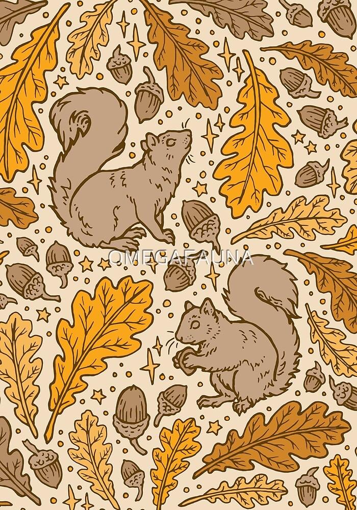 Oak & Squirrels | Autumn Yellows Palette by OMEGAFAUNA