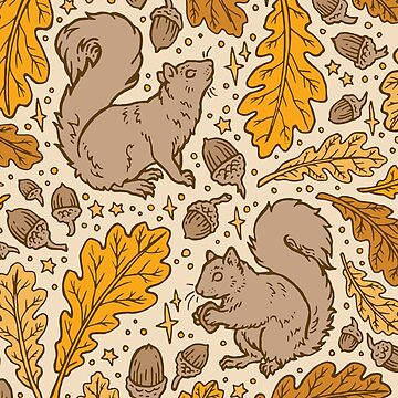 Oak & Squirrels | Autumn Yellows Palette by OMEGAFAUNA