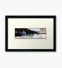 Backbarrow bridge under water Framed Print