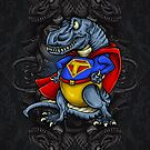 Tyrannosaurus Rex Super Hero Super T by scooterbaby