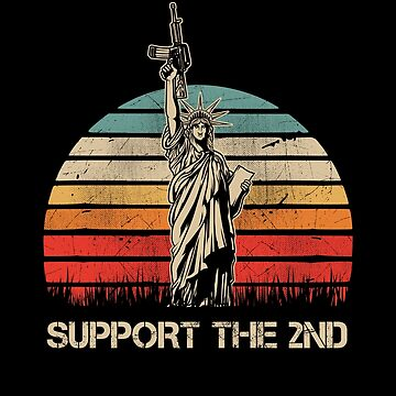 Retro Liberty Right to Bear Arms by TheTeeSupplyCo