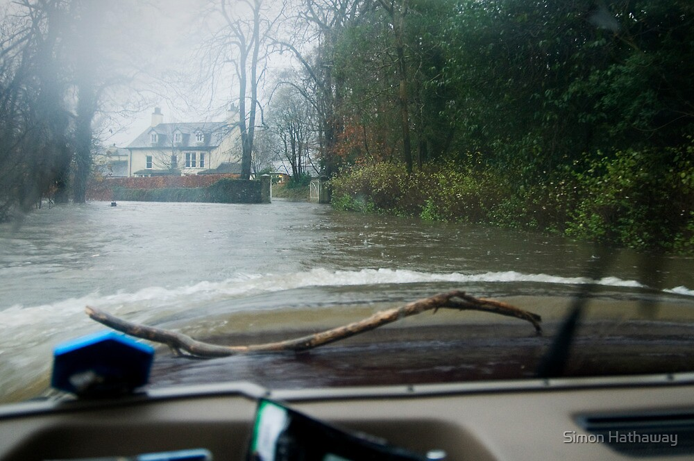 View from inside a Land Rover in the floods! by Simon Hathaway