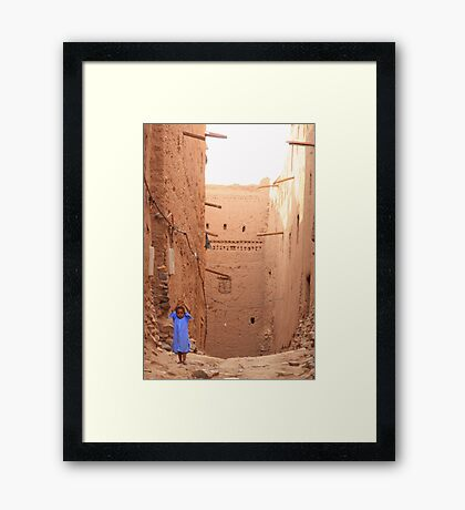 A little blue (Zagora, Morocco) Framed Print