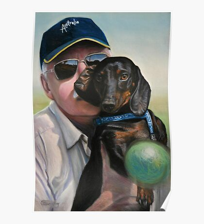 """Self Portrait - """"Dad"""" with Dexter Poster"""
