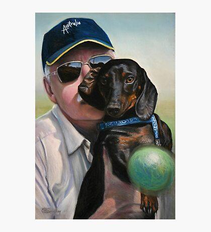 "Self Portrait - ""Dad"" with Dexter Photographic Print"