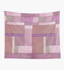 Light Pink and Purple Harmony Abstract Composition Wall Tapestry