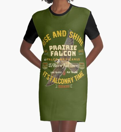 Falconers Prairie Falcon Gifts and Apparel for Longwingers Who Fly Prairie Falcons Great Falconry Supplies T-shirts Graphic T-Shirt Dress