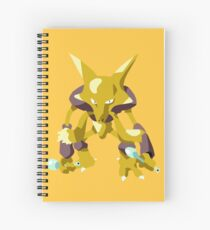 Alakazam Pokemon Simple No Borders Spiral Notebook