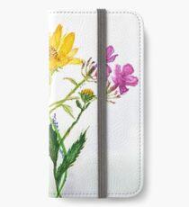 SERIES JASMIN WATERCOLOR FLOWERS iPhone Wallet/Case/Skin