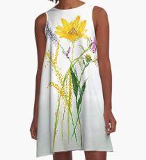 SERIES JASMIN WATERCOLOR FLOWERS A-Linien Kleid