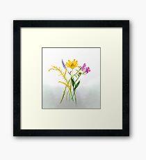 SERIES JASMIN WATERCOLOR FLOWERS Framed Print