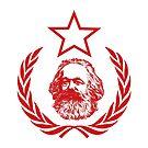 Communist Flag Karl Marx by Chocodole
