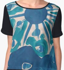 SERIES NOALIE WATERCOLOR BLUE SUN Chiffontop