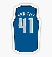 Dirk Nowitzki Jersey Sticker