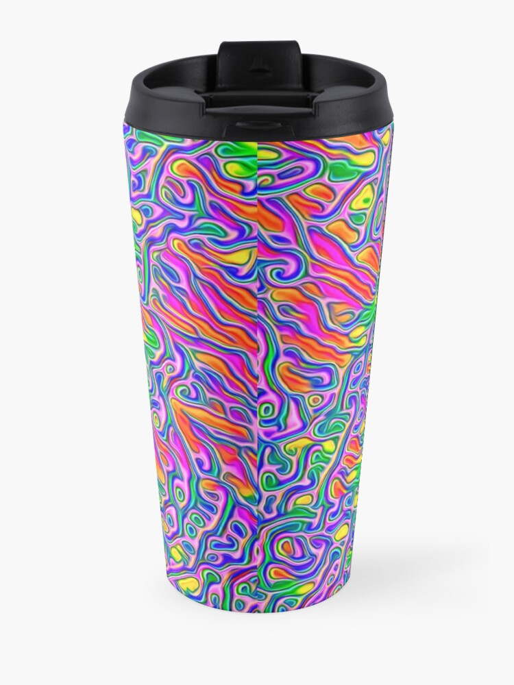 Alternate view of Abstract flowers Travel Mug