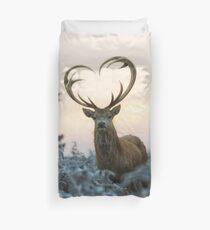 Funda nórdica Ciervo con las cornamentas en forma de corazón (te amo ciervo)