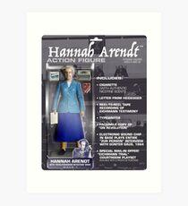 Hannah Arendt Action Figure Art Print