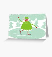 boy skiing Greeting Card