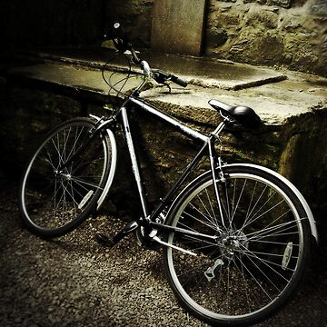 Bycicle by a tombstone, Ireland by dcrrld