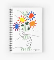 Pablo Picasso Bouquet Of Peace 1958 (Flowers Bouquet With Hands), T Shirt, Artwork Spiral Notebook
