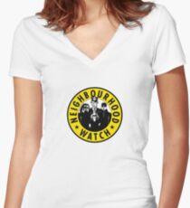 Neighbourhood Watch Women's Fitted V-Neck T-Shirt