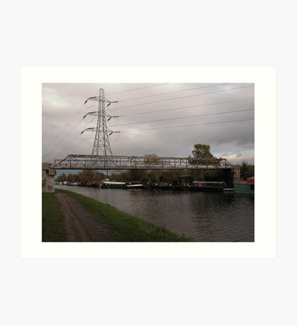 Photographic Art. Urban Landscape. The Canal.  Art Print