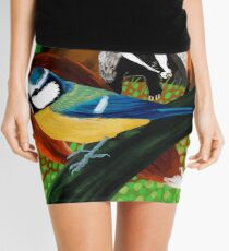 Of foxes and badgers Mini Skirt
