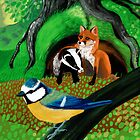 «Of foxes and badgers» de belettelepink