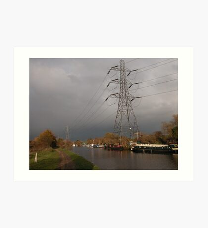 Photographic Art. Urban Landscape. The Canal  of the Waterway's. Art Print
