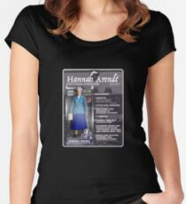 Hannah Arendt Action Figure Women's Fitted Scoop T-Shirt