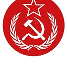 Round Communist Flag by Chocodole