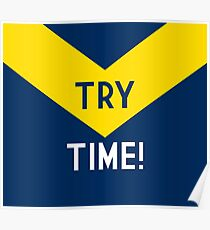 TRY TIME!  - Cowboys Poster