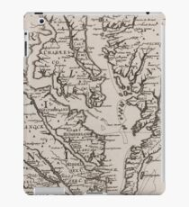 Vintage Map of The Chesapeake Bay (1681) iPad Case/Skin